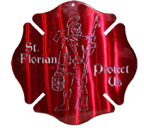 St. Florian Maltese Cross Wall Hanging