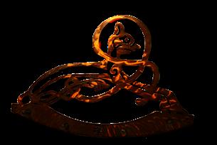 Celtic Cat Five Hook Key Rack