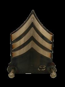 Sergeant Chevron Two Hook