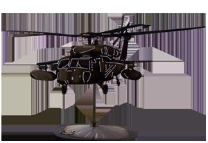 BlackHawk Helicopter W/ Tanks Replica