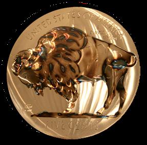 """15"""" Buffalo Nickel Coin"""
