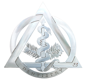 Dentistry Crest Offset Wall Hanging