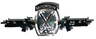 10th Mountain Division Four Hook Key Rack