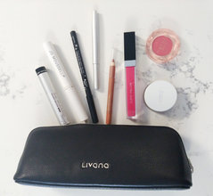 Insulated Leather Makeup Bag