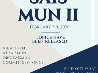 SAISMUN II, 2020 Topics Released