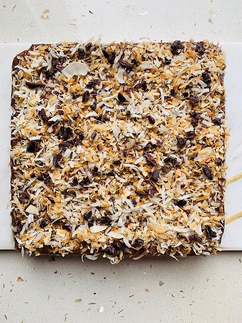 Paleo Coconut Brownie with Chocolate Ganache - GF, DF, RSF