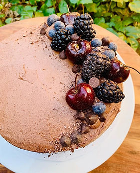 Chocolate and coffee cake, chocolate and