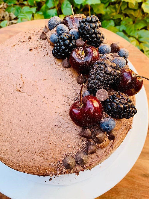 Chocolate and Coffee Cake with Chocolate Frosting - GF, DF, RSF