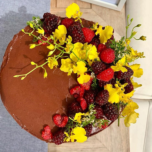 Chocolate Cake and Triple Chocolate Frosting - GF, DF, RSF