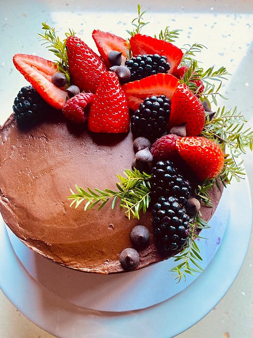 Vegan Chocolate Cake - GF, DF, RSF