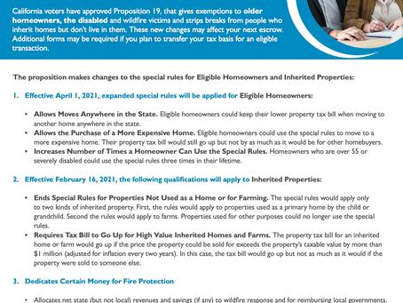 Understanding CA Proposition 19