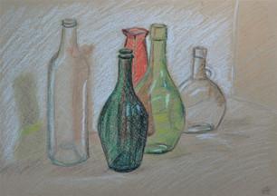 5 Gekleurde flessen