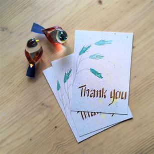 'Thank you' blauw kruid