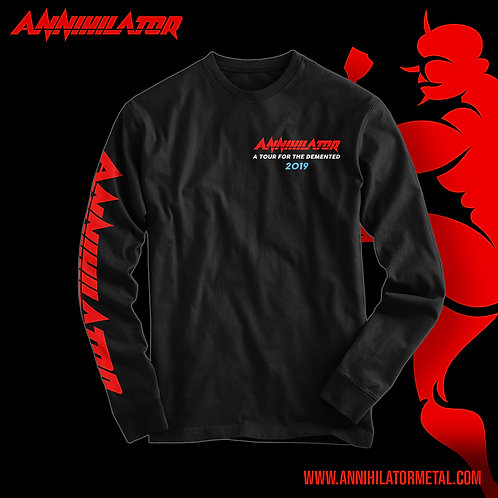 A TOUR FOR THE DEMENTED 2019 LONG SLEEVED T-SHIRT - BLACK