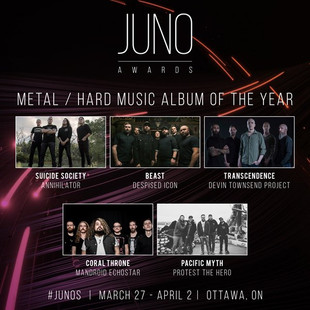 ANNIHILATOR Nominated for a JUNO AWARD