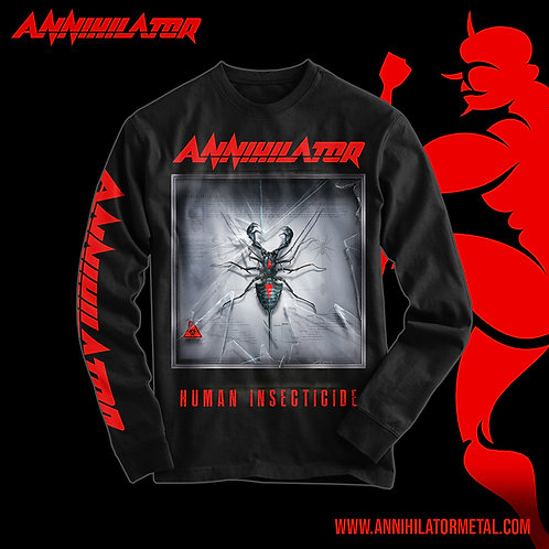 HUMAN INSECTICIDE 1989 LONG SLEEVED T-SHIRT - BLACK