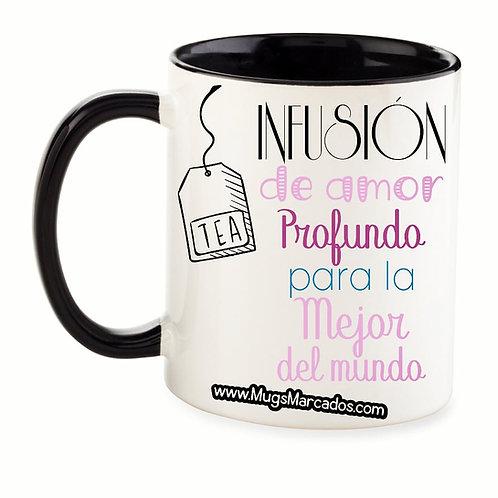 Día de la Madre | #111 | Regalo Personalizado | Mug Color Interno y Oreja 11 Oz