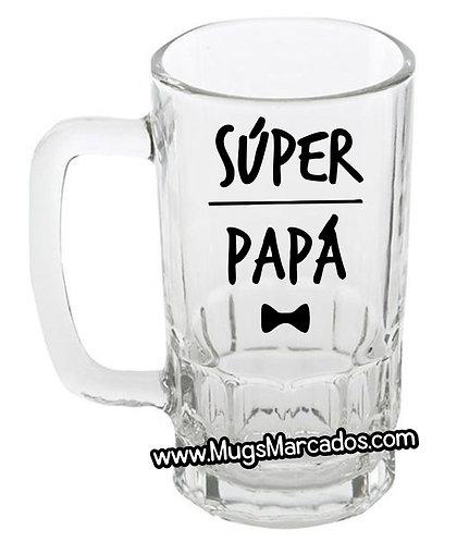 Regalos para el día del padre | Mug cervecero | Mug cervecero en vidrio | papá | regalos para papá | regalos personalizado