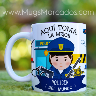 MUG LA MEJOR POLICIA | PROFESIONES