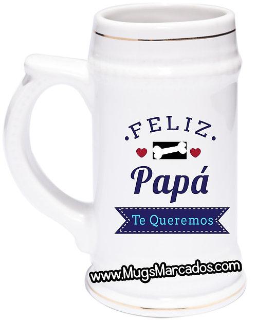 DÍA DEL PADRE   #73   REGALO PERSONALIZADO   FELIZ DÍA PAPÁ   MUG CERVECERO