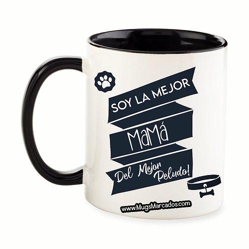 Día de la Madre   #104   Regalo Personalizado   Mug Color Interno y Oreja 11 Oz
