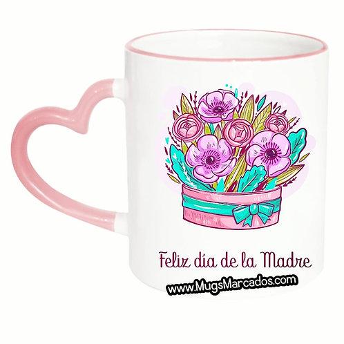 Día de la Madre   #97   Regalo Personalizado   Mug Oreja Corazón 11 Oz