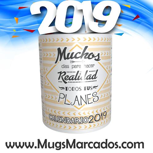 CALENDARIO 2019 | # 15 | MUG CALENDARIO | MUGS PERSONALIZADOS