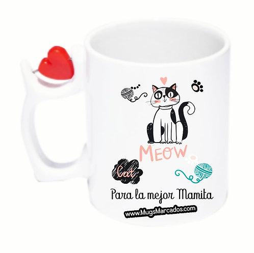 Día de la Madre | #103 | Regalo Personalizado | Mug Corazón Giratorio