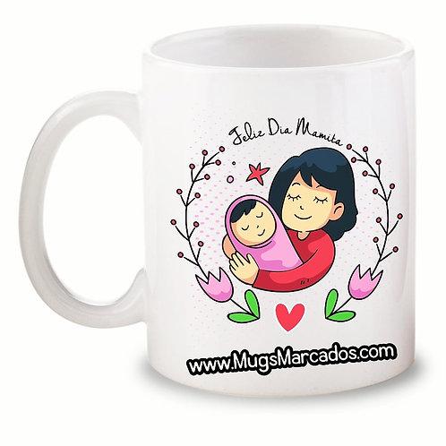 Día de la Madre | #94 | Regalo Personalizado | Feliz Día | Mug Blanco 11 Oz