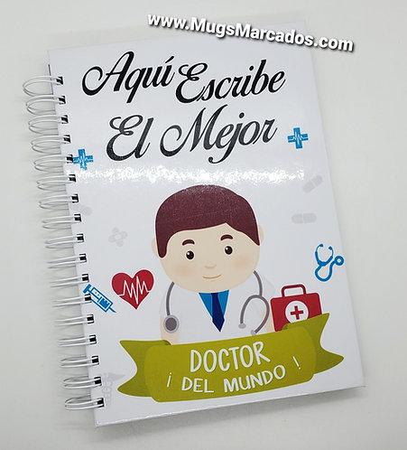 Cuaderno Personalizado | Aquí Escribe El Mejor Doctor | Regalos Para Doctor