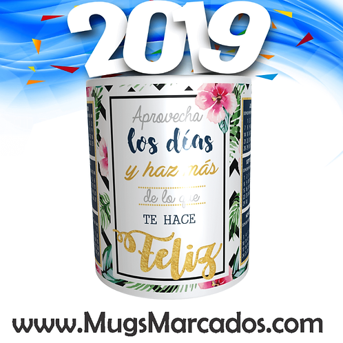 CALENDARIO 2019 | # 16 | MUG CALENDARIO | MUGS PERSONALIZADOS