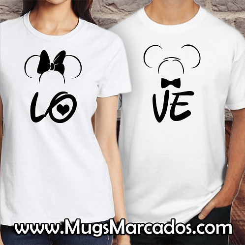 CAMISETA PARA NOVIOS | LOVE MINNIE | LOVE MICKEY | REGALOS PARA NOVIOS