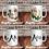 Thumbnail: PAREJA DE MUGS PARA NOVIOS | MR & MRS | MUG PAREJA