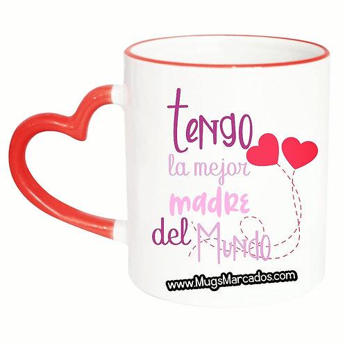 Día de la Madre | #98| Regalo Personalizado | Mug Oreja Corazón 11 Oz