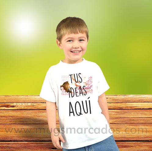 camiseta para niño personalizada