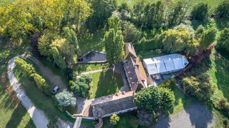 Moulin, photo de drone