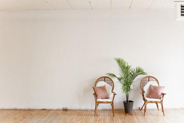 Crisp white walls