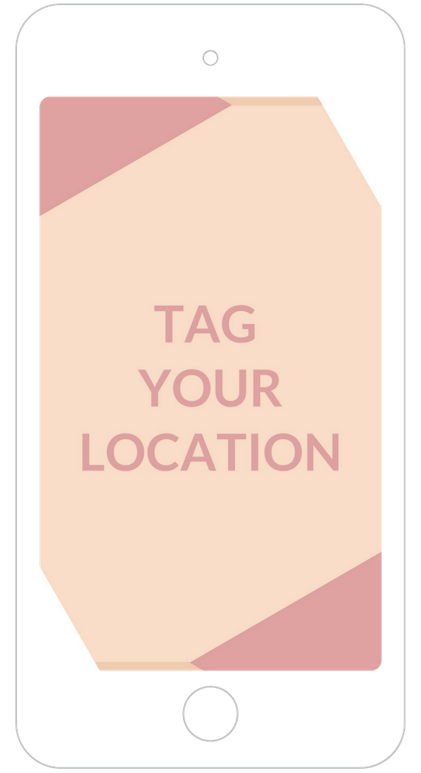Tag your location on instagram stories