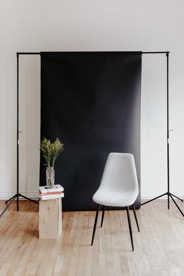 Black paper backdrop