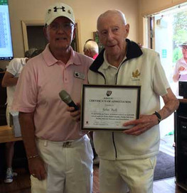 John Bell presented with a Certificate of Appreciation