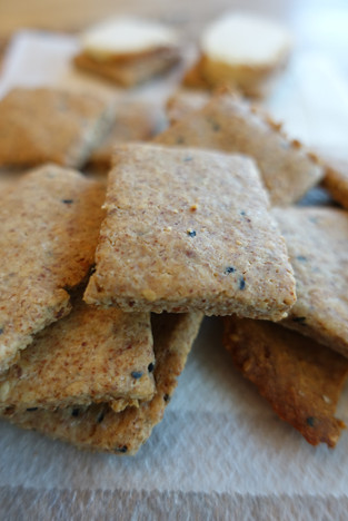 Almond- Sesame Crackers, Keto, Paleo, No grain Yes Taste