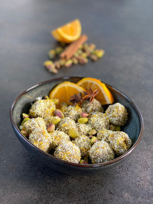 Pistachio and Orange Truffles