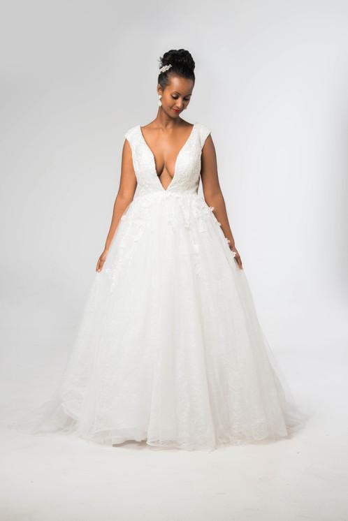 Deep V Neckline & Back Wedding Dress | Home | Maraqii