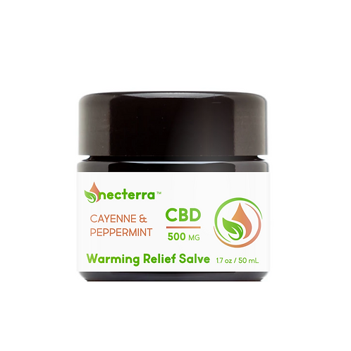 Necterra Warming Relief Hemp Extract Salve 500mg