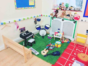 Music section in Sahan Nursery
