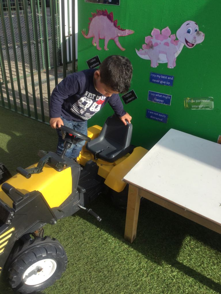 Riding truck Activity in Sahan Nursery