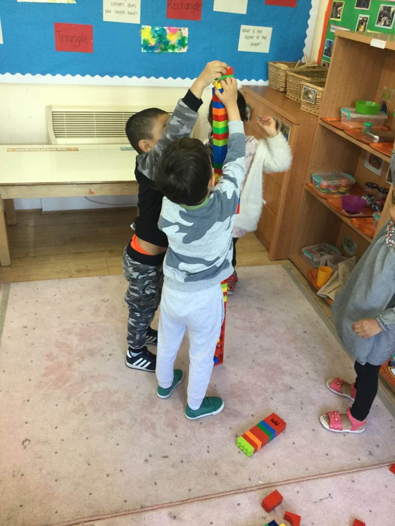 Building tower Activity in Sahan Nursery