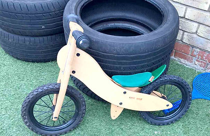 Wooden cycle for preschool children