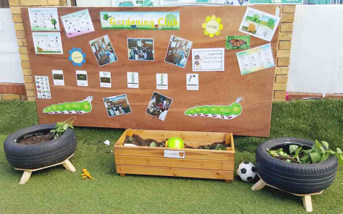 Sahan Nursery Display Board planting