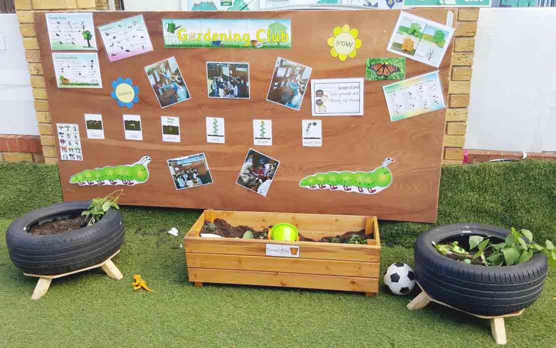 Sahan Nursery Display Board planting